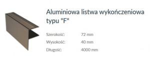LISTWA ALUMINIOWA-F