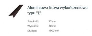 LISTWA ALUMINIOWA-L